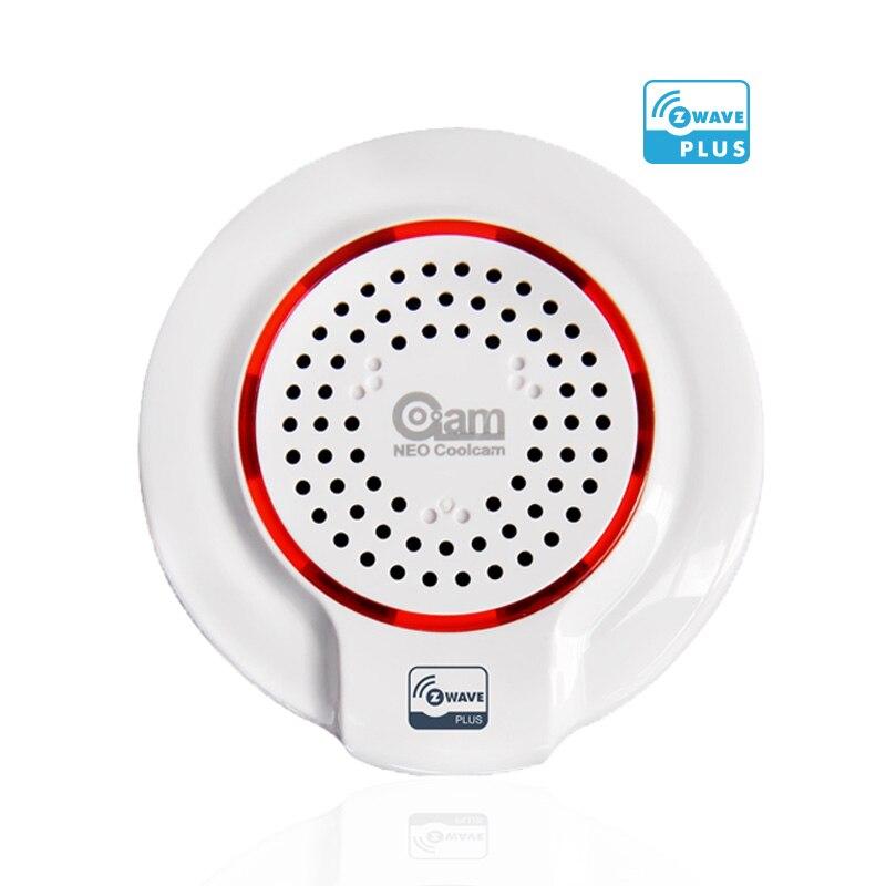 EU Version ZWave Wireless Audible Alarm Siren Sensor Battery-Powered Compatible With Z Wave Plus Sensor Home Automation Alarm