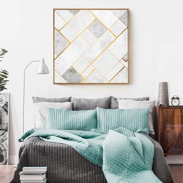 HAOCHU Nordic Abstrakte Geometrische Design Muster Dekoration Malerei  Wohnzimmer Schlafzimmer Sofa Hintergrund Wand Gang Malerei Hotel