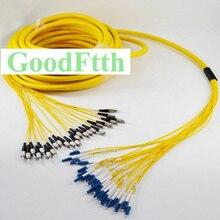 Patch Cord Cavo di Ponticello FC LC LC FC UPC SM 24 Core Fiber Tronco Breakout 2.0 millimetri GoodFtth 100 500m