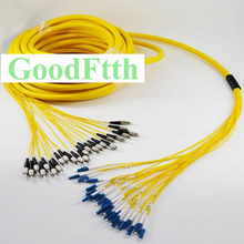 Patch Cord Jumper FC LC LC FC UPC SM 24 Cores Fibers Trunk Breakout 2.0mm GoodFtth 100 500m