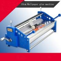 Manual 53cm Wallpaper Glue Coating Machine Coater Wallpaper Paste Cementing Gumming Starching Gluing Machine Free Ship