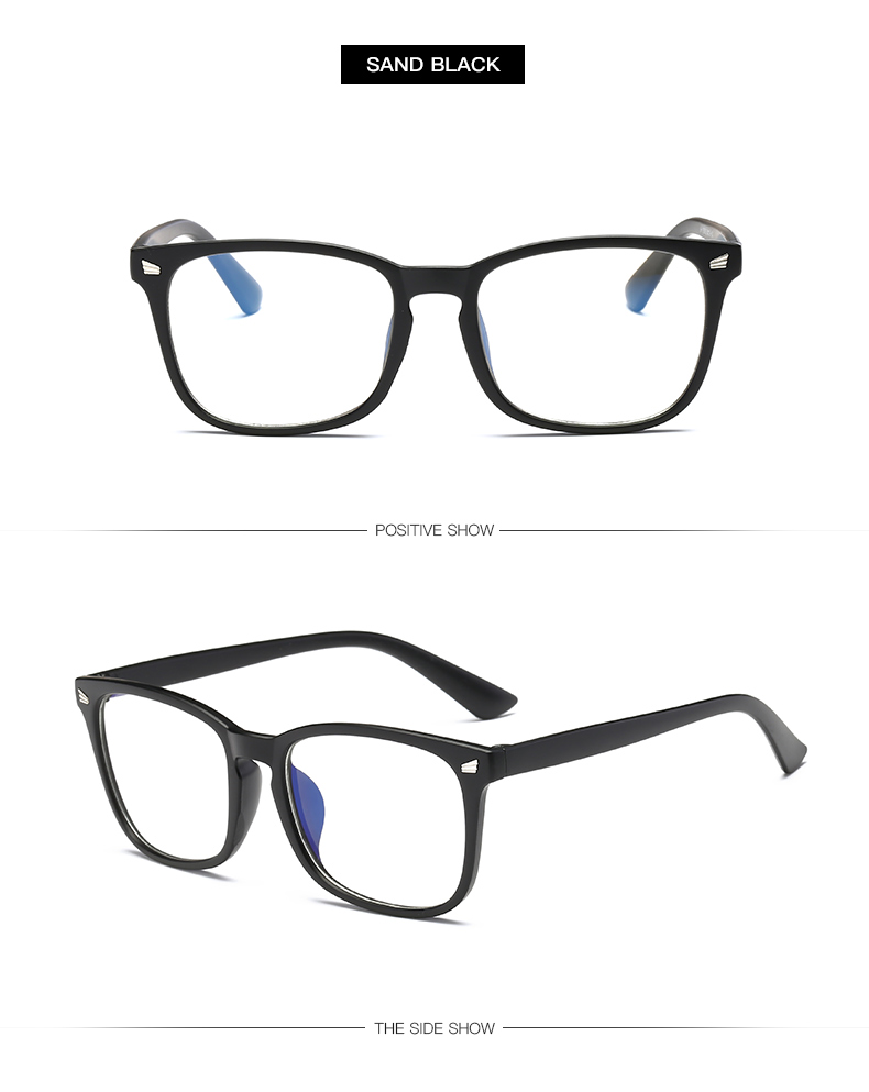 sand black Non-Prescription Blue Light Blocking Glasses