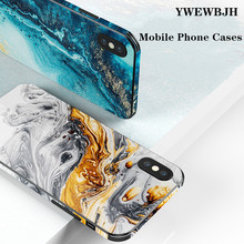 YWEWBJH Abstract tempered glass painted protective cover For iPhone X XS 6 6s 7 7plus 8 8plus XR Max  Cases Back Cover