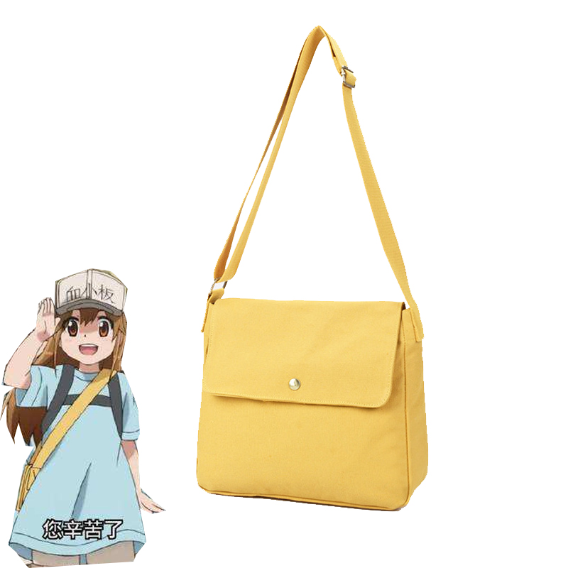 Japanese Anime Cells at Work Platelet Cosplay Bag Hataraku Saibo Costume Yellow Crossbody Bag Girls Cute Satchel