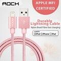 Для Мфо Кабель iPhone iOS 10 Рок Кабель USB для Lightning на USB 2.1A Быстрое Зарядное Устройство USB Кабель для iPhone 7 6 6 s iPad mini 2 3