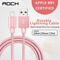 For MFi iPhone Cable iOS 10 Rock USB Cable for Lightning to USB 2.1A Fast USB Charger Cable for iPhone 7 6 6s iPad mini 2 3