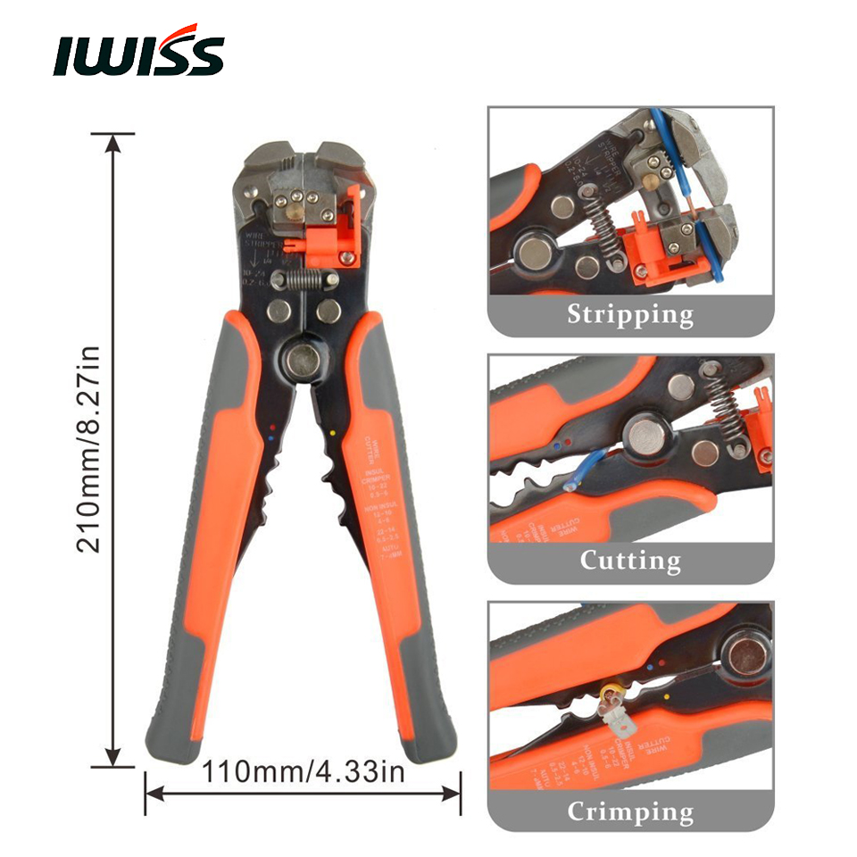 IWISS Wire Stripping Tools HS D2 Cable Cutter Crimper Automatic Wire ...