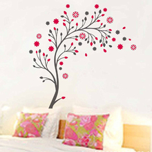 flowers tree branches wall stickers TV background living room decoration diy plant mural art home decals posters peel and stick