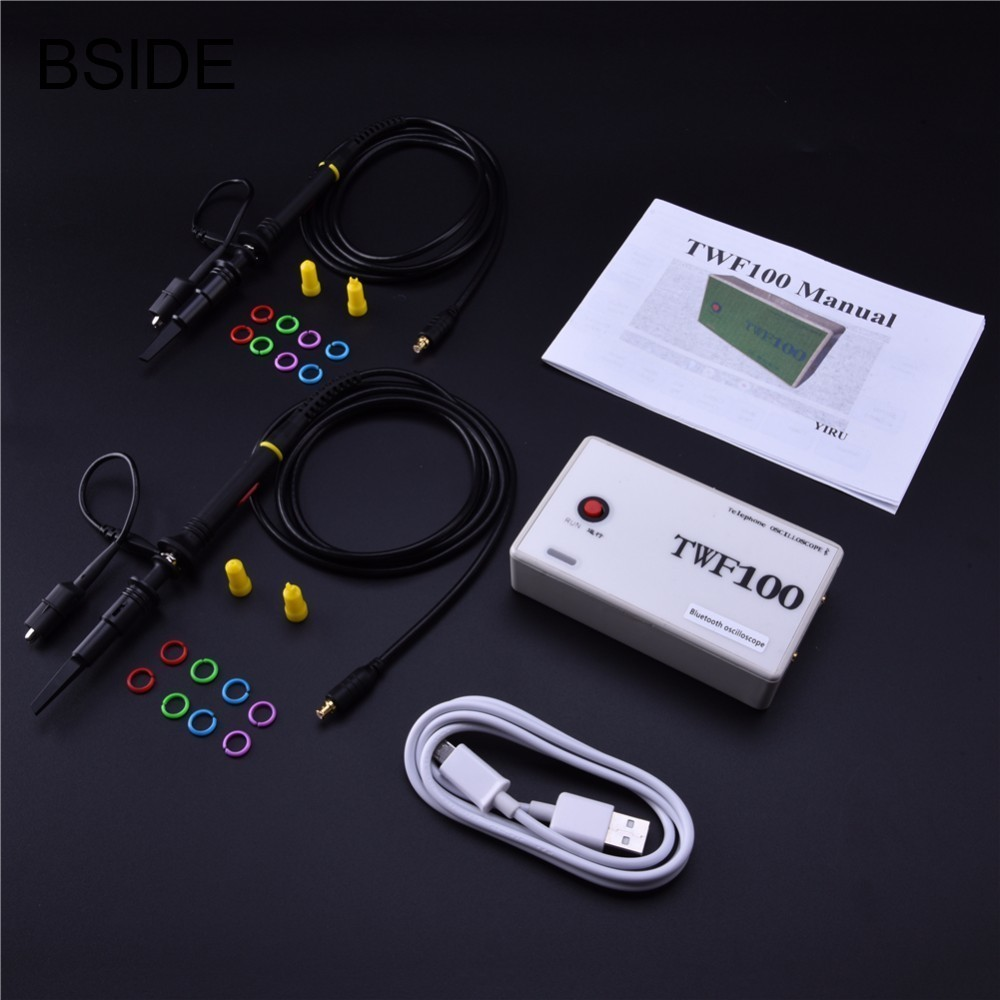 Bluetooth Oscilloscope Android 4.0 With 2CH USB Digital Mini Oscilloscope support PC /Mobile phone / PAD TWF100Bluetooth Oscilloscope Android 4.0 With 2CH USB Digital Mini Oscilloscope support PC /Mobile phone / PAD TWF100