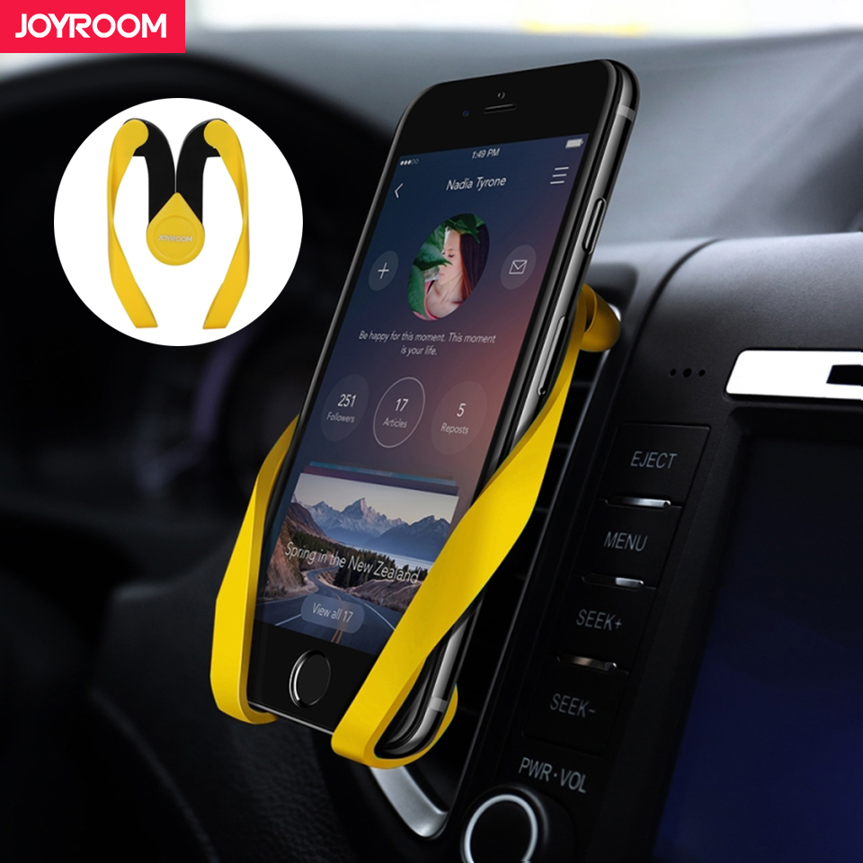 Joyroom Durable Universal Car Phone Holder For iPhone For Samsung Magnetic Flexible Mobile Phone Holders Stands Light Useful
