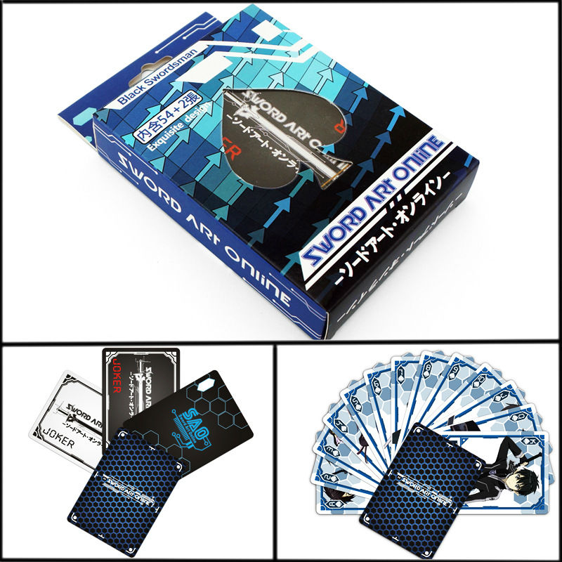2016 NEW ! 54pcs/set Sword Art Online Anime Poker Playing Cards Free Shipping image