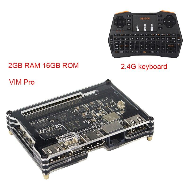 2018 Khadas Vim Pro Quad Core OpenELEC Amlogic S905X Double WiFi Bluetooth mieux que pour Orange Pi Framboise Pi 3 modlel B