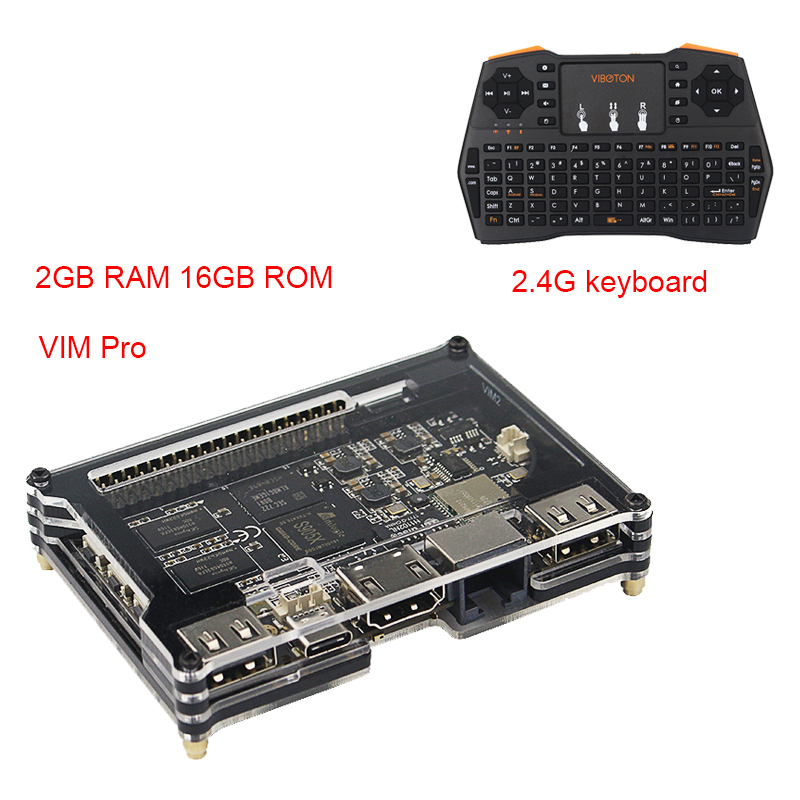 2018 Khadas Vim Pro Quad Core OpenELEC Amlogic S905X Dual WiFi Bluetooth better than for Orange Pi Raspberry Pi 3 Modlel B