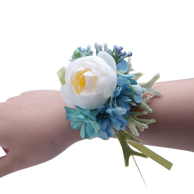 Other Mobility & Disability 5pcs Wrist Flower Rose Silk Ribbon Bride Corsage Hand Flower Decorative Wristband Bracelet Bridesmaid Curtain Band Clip Bouquet Health & Beauty