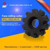 Mached إدراج PNEG110512R رأس طاحن القاطع أدوات تعدين تواجه FMD02-100-B32-PN11-10 قطع القاطع/DF01.11B32.100.100