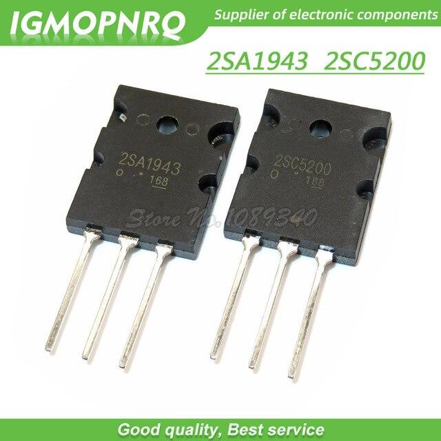 20 قطعة A1943 C5200 2SA1943 2SC5200 زوج الصوت أنبوب 10 قطعة * A1943 + 10 قطعة * C5200 TO 3PL جديد الأصلي