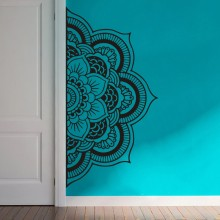 YOYOYU Decal Half Mandala Wall Sticker Flower Vinyl Bohemian Headboard Home Decor DIY Bedroom Carving Poster Y022