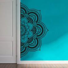 YOYOYU Decal Half Mandala Wall Sticker Flower Vinyl Bohemian Headboard Home Decor DIY Bedroom Carving Poster Y022