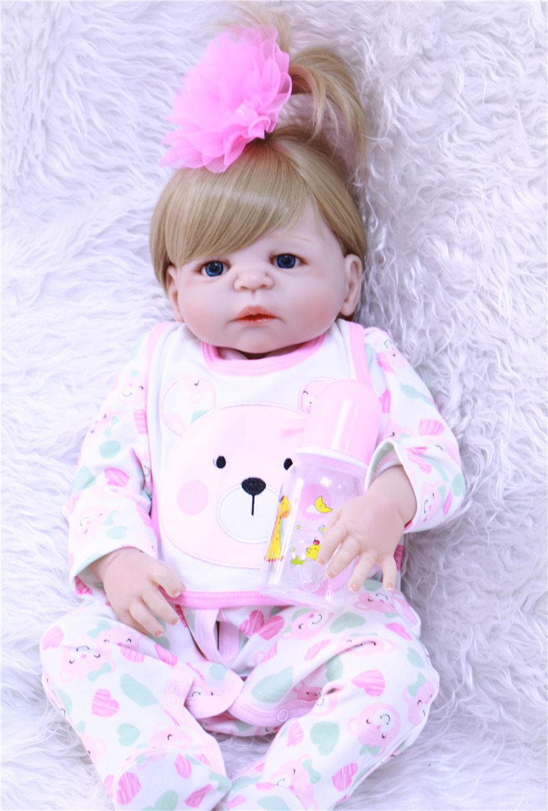 Newborn Baby Girl Toys : Cm full body silicone reborn baby girl doll toys play