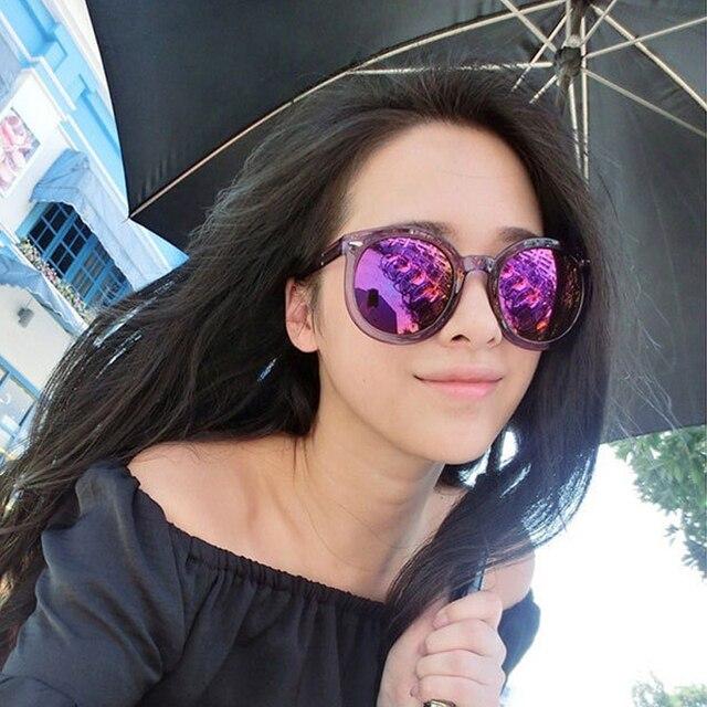 Round Frame Coating Women Sunglasses Reflective arrow Mirror Sunglasses Eyewear 9711