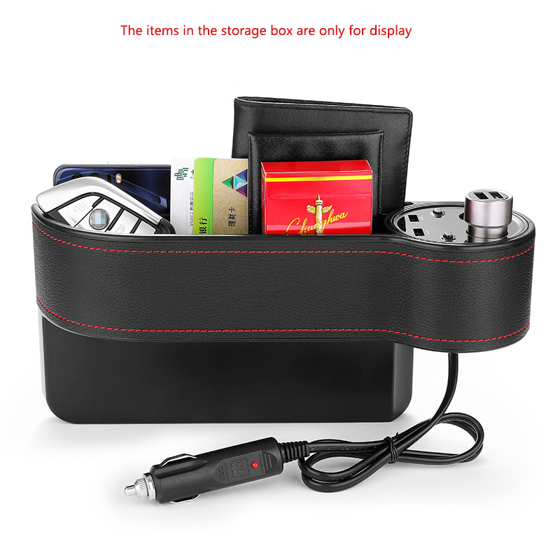 Car Seat Storage Box Bag Organizer Crevice Stowing Car Charger for Jaguar xf xe x type xj s type f pace XFR XKR XJR