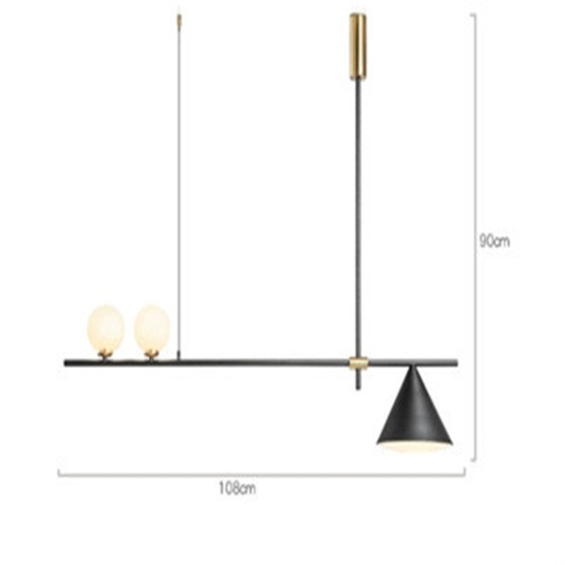Image 3 - Nordic Minimalist Magic Beans Design Pendant Lamp Concise Parlor Music Restaurant Coffee Dining Kitchen Led Suspension Light-in Pendant Lights from Lights & Lighting