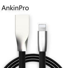 AnkinPro Zinc Alloy USB Cable for iPhone 6 7 8 X iPad Charger 5V/2.1A Fast Date Sync Charging Mobile Phone Cables