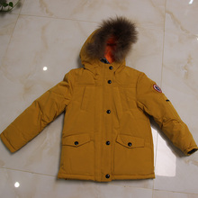 Waterproof 2017 Brand New Kids Thick Winter Warm Cottoon Down Parka with Removable Detachable Raccoon fur