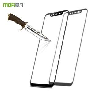 Image 2 - Mi8 закаленное стекло MOFI 3D изогнутое для Xiaomi Mi 8 Защита для экрана полное покрытие HD защитная пленка Защита ЖК экрана ударопрочное стекло