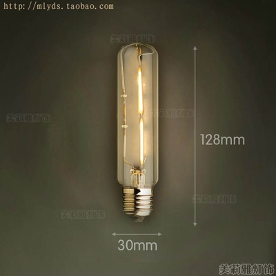 4 Вт E27 220 В светодиодный светильник для декора, лампада Эдисона, винтажный декоративный светильник с ампулами T10 G80 G95 ST64 T225 T30 - Цвет: Белый
