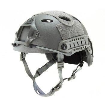 Emerson motorcycle helmet Airsoft FAST style PJ Helmet (A-TACS FG TAN MARPAT DESERT AT GRAY BLACK)