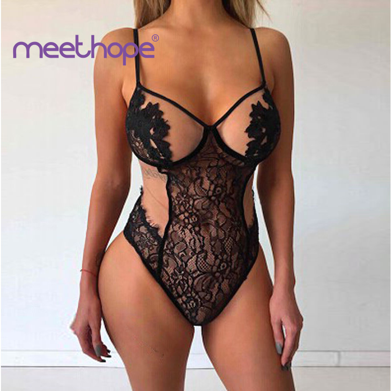 Sexy Lingerie Female Lace Corset Exotic Style Babydoll Fashion One-piece Hot Porn 2019 meethope