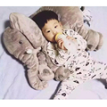 40 СМ One Piece Дети Слон Плюшевые Куклы Милый PP Хлопка Чучела куклы Мягкая Успокоить Подушку Слонов Игрушки Ребенка Спокойным Куклы Детские Игрушки