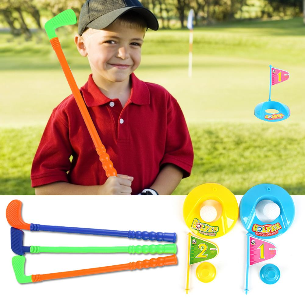 New Children's Golf Set Club Ball Flag Parent-child Interactive Game Outdoor Sports Ball Suit Accessories Sports Entertainment