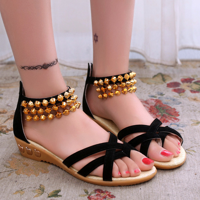 9b773c81dcd9f New style women s 2016 summer sandals fashion students with flat sandals  for women s shoes
