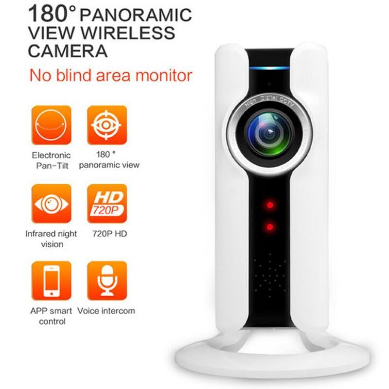 IP Panoramic Camera WiFi 720P HD Home Security Wireless Network Video Baby Monitor P2P Two Way Audio Night Vision IR 180