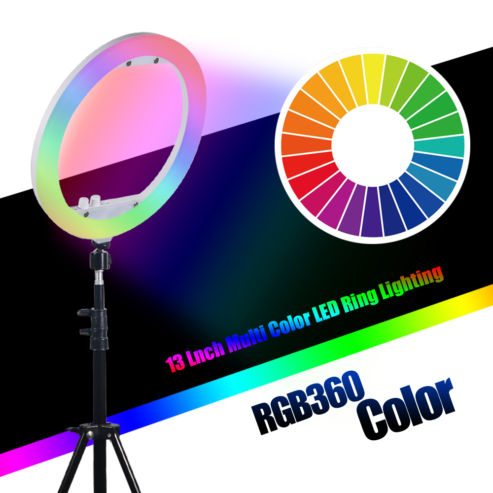 Mcoplus RL 13 LED Ring Light Dimmable Ringlight 35W 240PCS 3200K 7000K Photography Ring Light Lamp