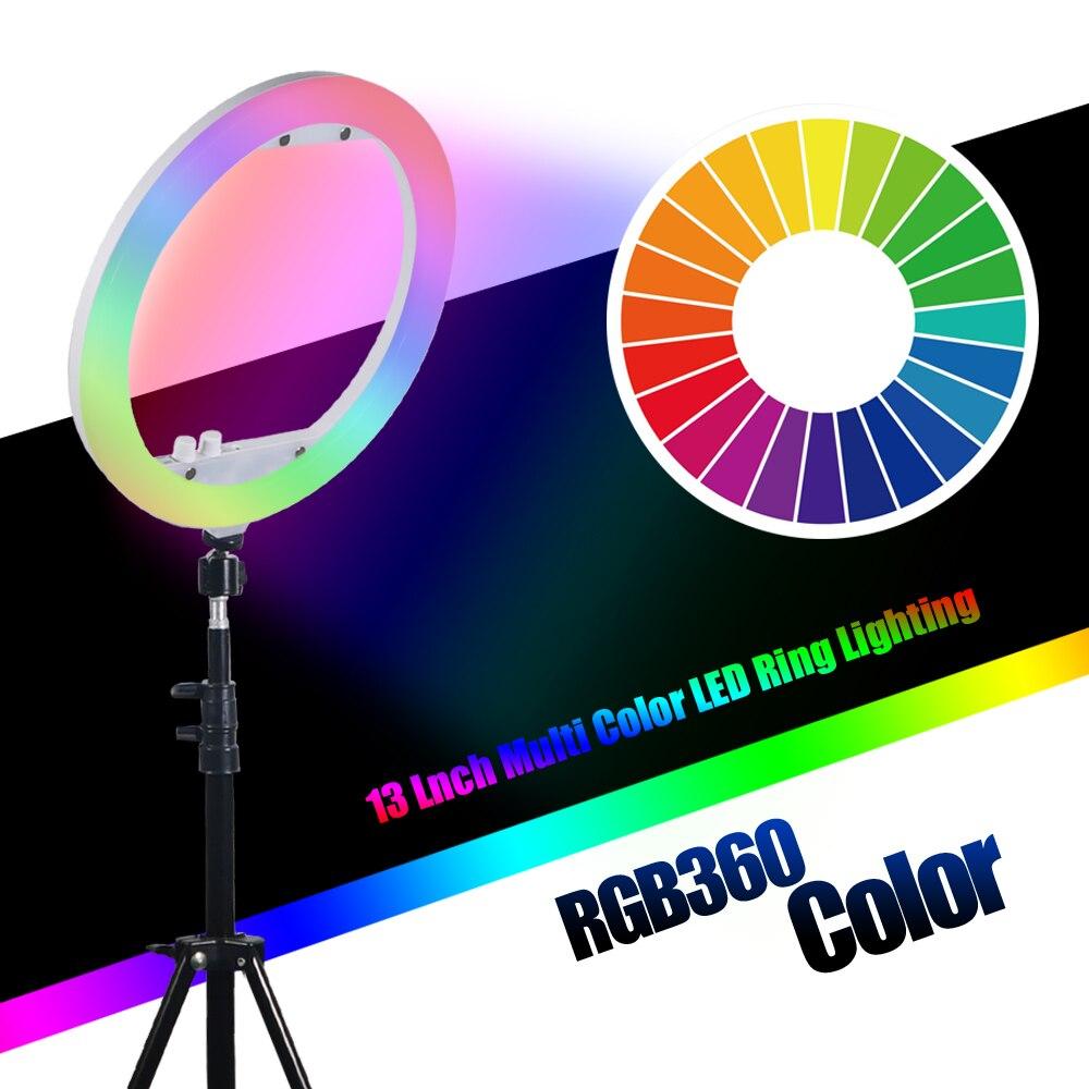 Mcoplus RL 13 LED リングライト調光対応リングライト 35 ワット 240 ピース 3200 k 7000 k 写真ライトランプとテーブルスタンド  グループ上の 家電製品 からの 写真用照明 の中 1