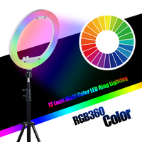 Mcoplus RL 13 LED Ring Light Dimmable Ringlight 35W 240PCS 3200K 7000K Photography Ring Light Lamp makeup with table Stand
