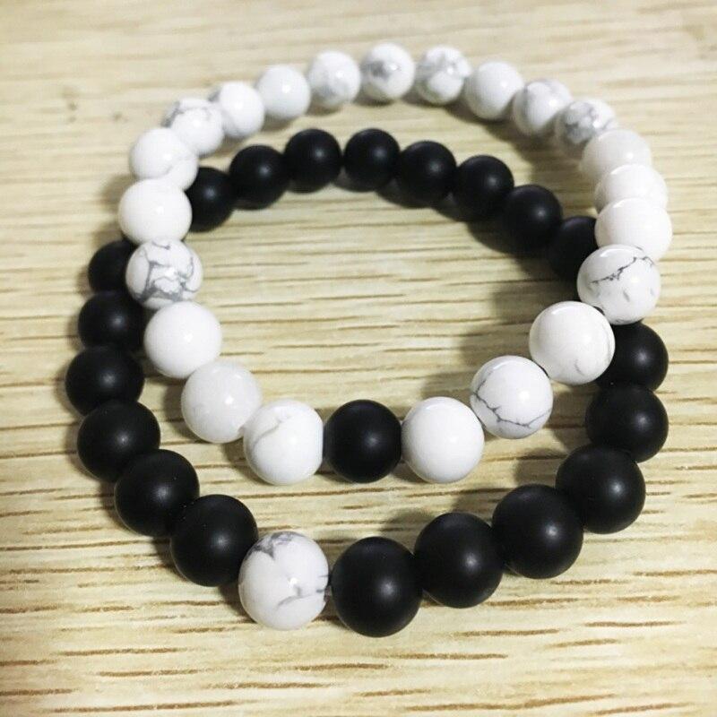 1 Pcs / 2Pcs Radiation Beading Bracelet Unisex Handmade DIY Bracelet White Pine Stone Couple Buddha Radiation Protection Beads
