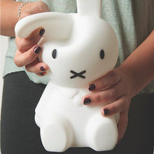 Ins Hot Lovely Line Friend Miffy Rabbit Night Light Silicone Bedside Led Lamp Bedroom Lamp Desk Lamp for kids gift(China)