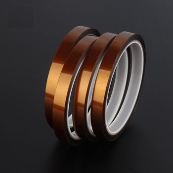 10pcs 10mm by 33m High Temperature Polyimide Adhesive Tape Heat Resistant Insulating Kapton Tape SMT 3D Printing Masking