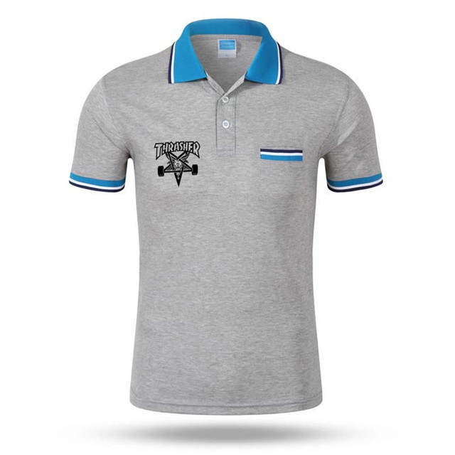 Polo shirts Size S-3XL Brand New design Thrasher polo 2017 trasher Cotton Short Sleeve mens women polo shirt Brands camisa polo