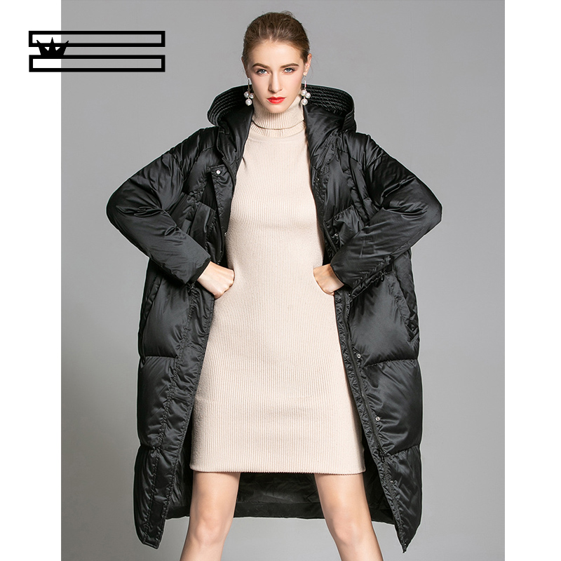 SHUANGGUN Women Long Women's   Down   Jacket Women Winter Duck   Down     Coat   Vintage Puffer Jackets 2018 Manteau Femme Hiver
