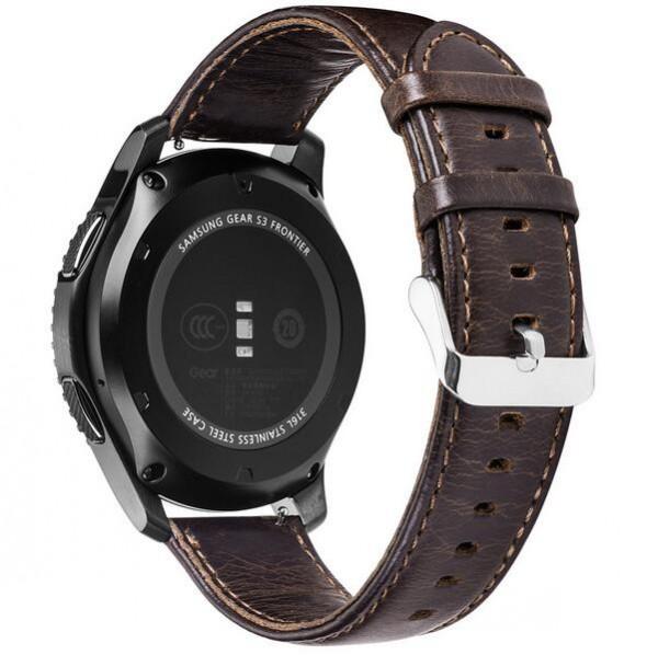 Prix pour FOLOME Véritable Bracelet En Cuir Bracelet De Rechange pour POUR Samsung Vitesse S3 Frontière/Classique Montre Bracelet En Cuir 22mm