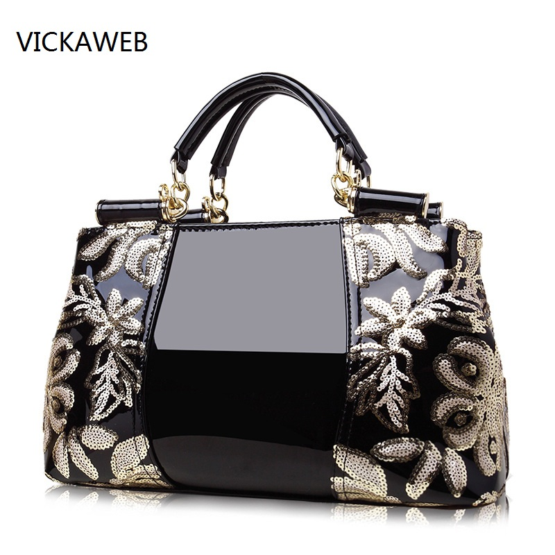 embroidery flower women handbag crossbody shoulder bags famous designer bag luxury brand ladies pu leather handbag