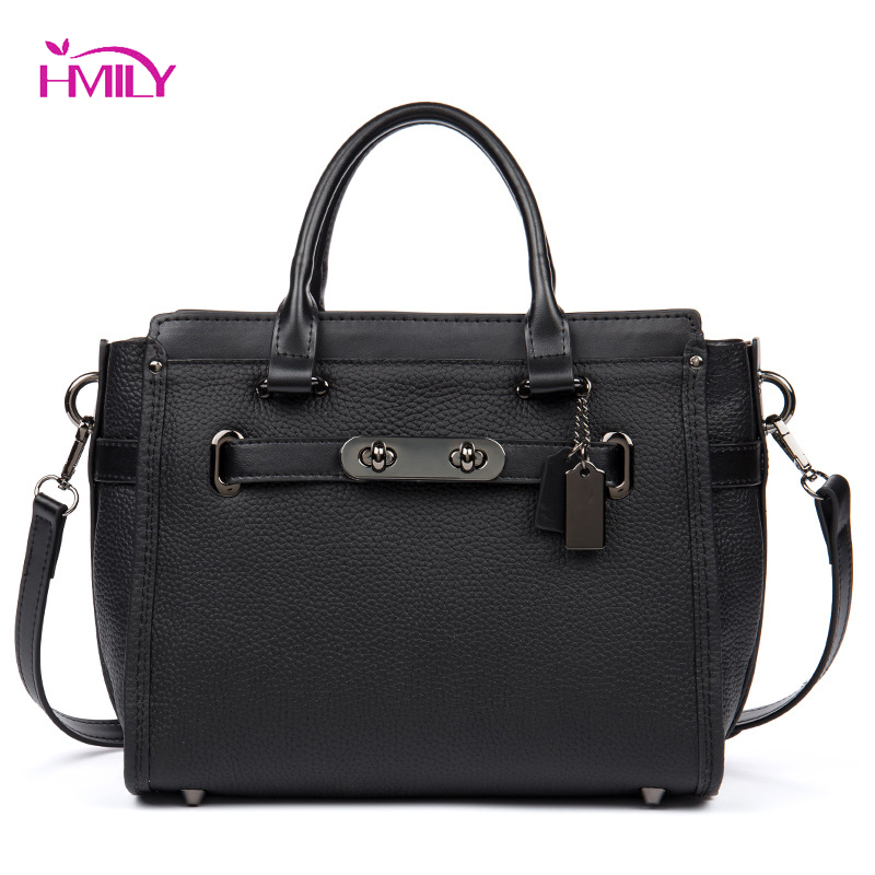 HMILY Fashion Real Leather Shoulder Bag Ladies Daily Bag Genuine Leather Women Handbag Vintage Female Messenger Bag hmily women handbag genuine leather ladies messenger bag women bag natural cowhide daily shoulder bag socialite