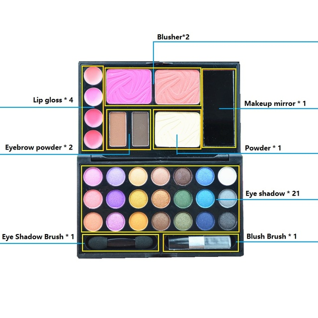 LKE Makeup 33 in 1 Tool Kit 2