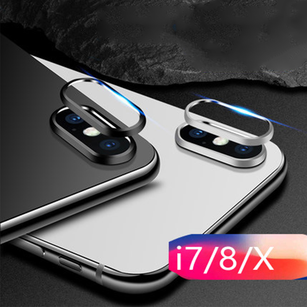 Phone Accessories Aluminum Alloy Dustproof Rings Anti Scratch Camera Lens Full Cover Protective Film Guard For IPhone X 7 8 Plus