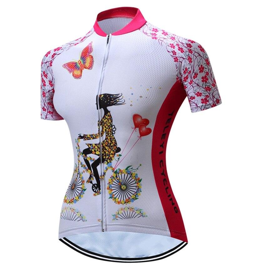 Weimostar Men Cycling Jersey Team Bike Flowers Sleeve Racing  Shirt Top XS-4XL